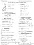 PHYS 141 Lowell ExamIformulas