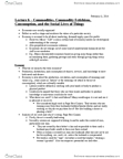 ANT370H1 Lecture Notes - Lecture 6: Commodity Fetishism, Premarital Sex, Gift Economy