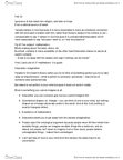 PHI 1104 Lecture Notes - Ontological Argument