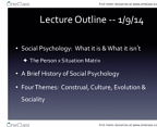 PSY BEH 104S Lecture Notes - Determinism, Collectivism, Twerking