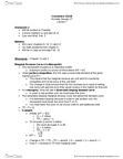 Economics 2150A/B Lecture Notes - Lecture 7: Oligopoly, Statics, Comparative Statics