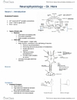 Physiology 3120 Lecture Notes - Classical Conditioning, Sound Intensity, Protein Folding