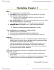 COMMERCE 2MA3 Chapter Notes - Chapter 1: History Of Marketing, Marketing Buzz, Sustainable Products