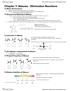 CHEM 231 Chapter 7: Alkenes Elimination Reactions