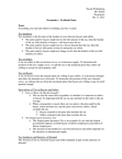 Economics 1021A/B Chapter Notes -Production Quota, Tax Incidence, Economic Equilibrium