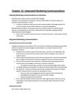 MKTG 2030 Chapter Notes - Chapter 12: Marketing, Media Planning, Plaintext