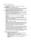 BIOC61H3 Lecture Notes - Trophic Cascade, Primary Succession, Secondary Succession