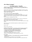 Sociology 1020 Study Guide - Final Guide: Chain Migration, Bogardus Social Distance Scale, Verstehen