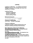 PSY260H1 Chapter Notes -Interstimulus Interval, Classical Conditioning, Social Learning Theory