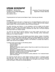 GGRB05H3 Study Guide - Research Question, Canadian Studies, Urban Affairs Review