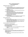 MKT 500 Chapter Notes - Chapter 1: Decision Support System, Marketing Intelligence, Marketing Effectiveness