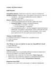 BUS 426 Lecture Notes - Lecture 10: Financial Audit, Financial Statement, Mathematically Correct