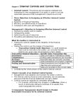 BUS 426 Chapter Notes - Chapter 9: Internal Control, Audit Risk, Financial Statement