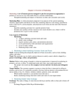 BU352 Chapter Notes -Marketing Mix, Voice Of The Customer, Pro Forma
