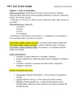 MKT 100 Study Guide - Data Analysis, Liquor Control Board Of Ontario, Categorical Imperative
