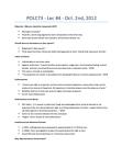 POLC73H3 Lecture Notes - Scottish Enlightenment, Jeremy Bentham, Proportional Representation