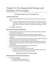 PSYC 2P25 Chapter Notes - Chapter 4: Conscientiousness, Trait Theory, Extraversion And Introversion