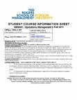 GMS 401 Lecture Notes - Ryerson University, Operations Management, Quality Management