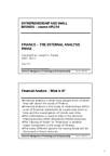 MIE258H1 Lecture Notes - Financial Statement Analysis, Financial Analysis, Financial Statement