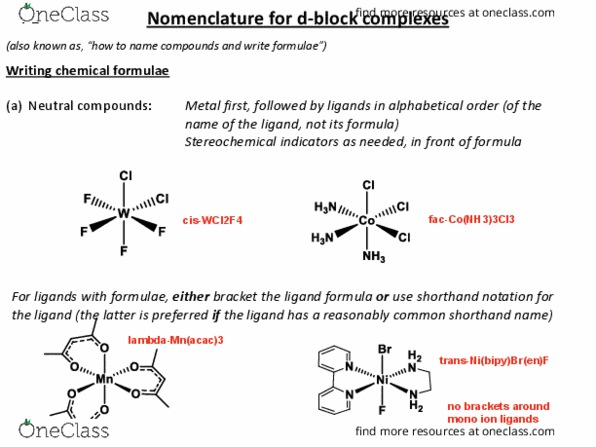 Class Notes for CHEM 324 at University of Victoria (UVIC