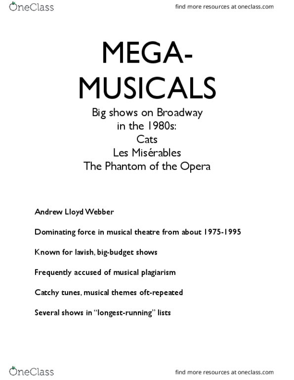 Music 2701A/B Midterm: MH Midterm study notes - OPERA docx