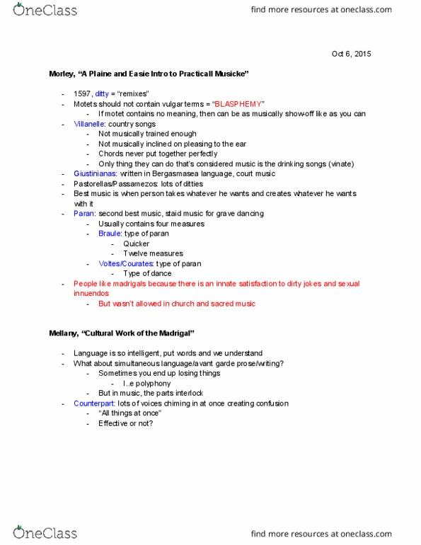 MUS 10A Study Guide - Midterm Guide: Villanelle