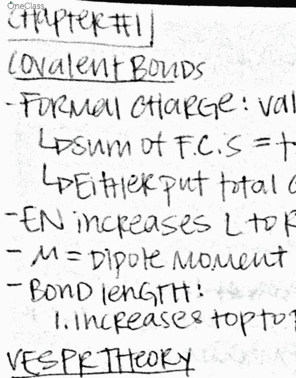 Chem 201dl Study Guide