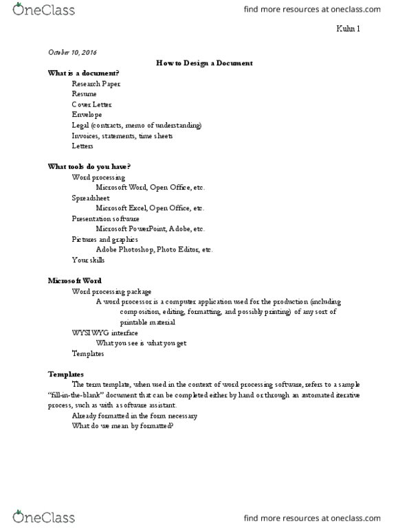 Cs 110 Lecture Notes Fall 2016 Lecture 7 Microsoft