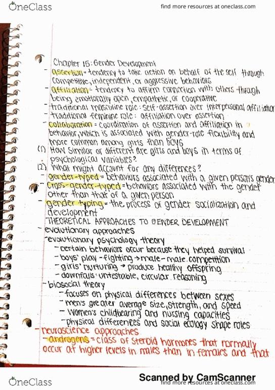 All Educational Materials for PSY-PC 1250 at Vanderbilt