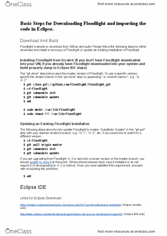 CMPE 210 Lecture Notes - Fall 2016, Lecture 8 - Eclipse (Software