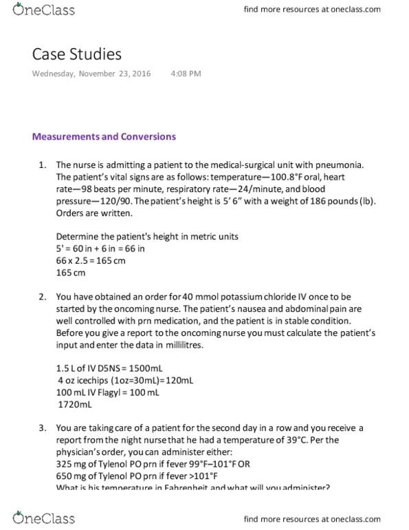 BIOL 1550 Study Guide - Fall 2016, Final - Potassium Chloride