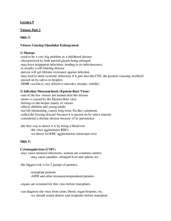 HSS 1100 Lecture Notes - Fall 2012, Lecture 9 - Encephalitis