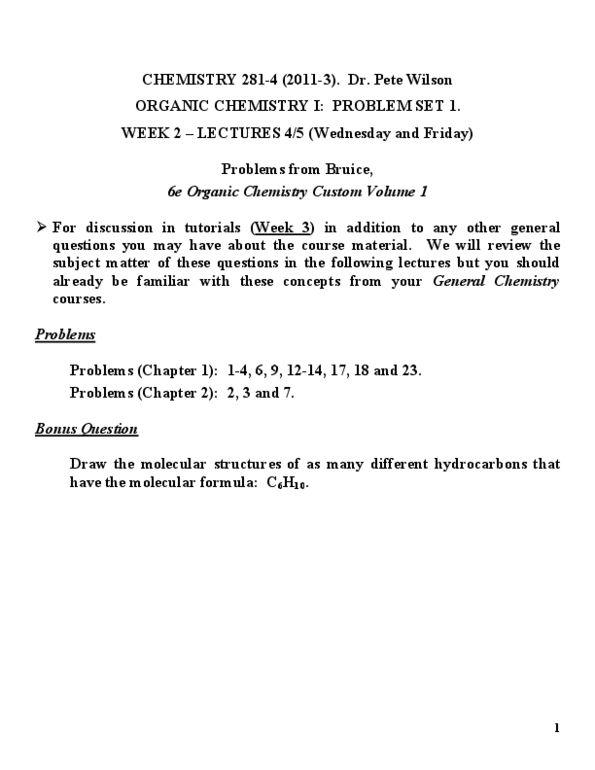 CHEM 281 2012-3 PROBLEM SET 12 (Past Final Examinations) SOLUTIONS pdf