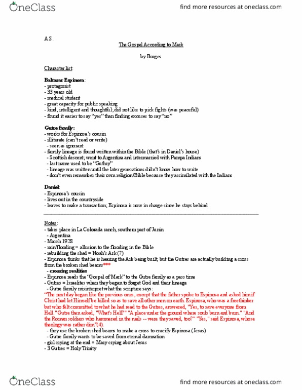 ENGL 2 Lecture 1: ENG 2 - Gimpel The Fool (Notes)