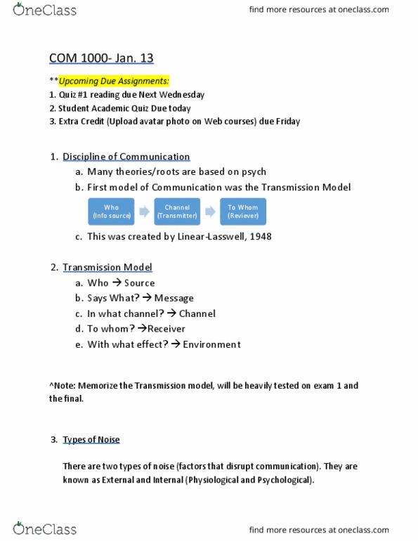Class Notes for Christine Hanlon, Ph D  - OneClass