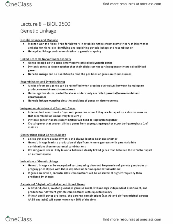 BIOL 2500 Study Guide - Mutation, Dna Replication, Mitosis