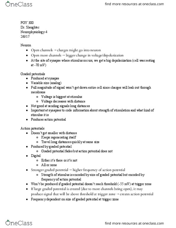 Class Notes for PGY 300 at University at Buffalo (UB) - OneClass