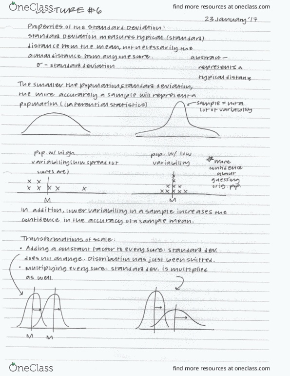 Class Notes for Angela Lowe - OneClass