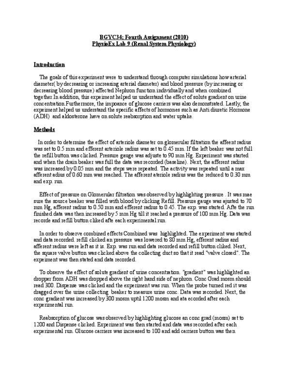 BIOC34H3 Textbook Notes - Winter 2013, - Extracellular Fluid