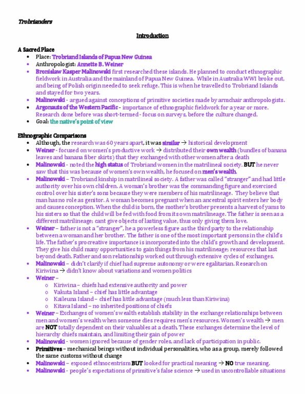 Anta02h3 Textbook Notes Winter 2013 Chapter 1 Premarital Sex