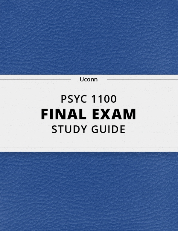 A Uconn Study Of How Human Brain Reads >> Psyc 1100 Final Exam Guide Ultimate 36 Pages Long Study Guide