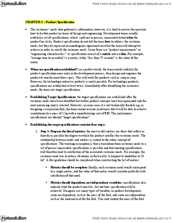 ADMS 4245 Textbook Notes - Winter 2013, Chapter 5 - Consumer