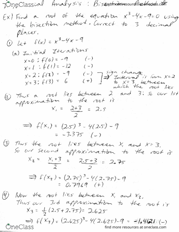 MAD 3703 Chapter 6: Study Guide 6 (Numerical Analysis