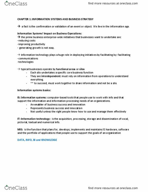 ADM 2372 Study Guide - Final Guide: Management Information System, Netflix,  Business Process