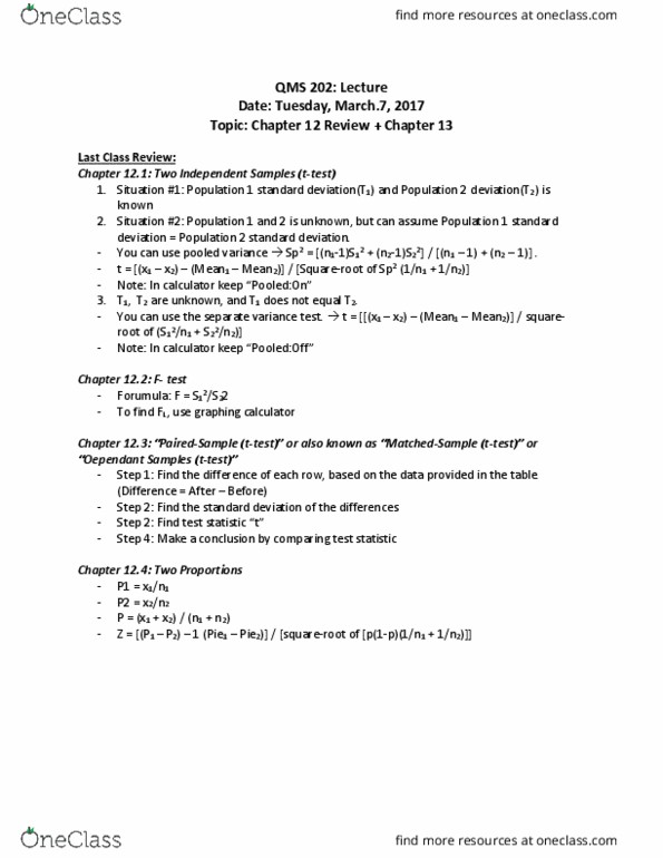 QMS 202 Lecture Notes - Winter 2017, Lecture 7 - Graphing