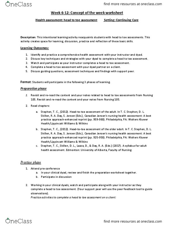 health assessment nurses clinical guide