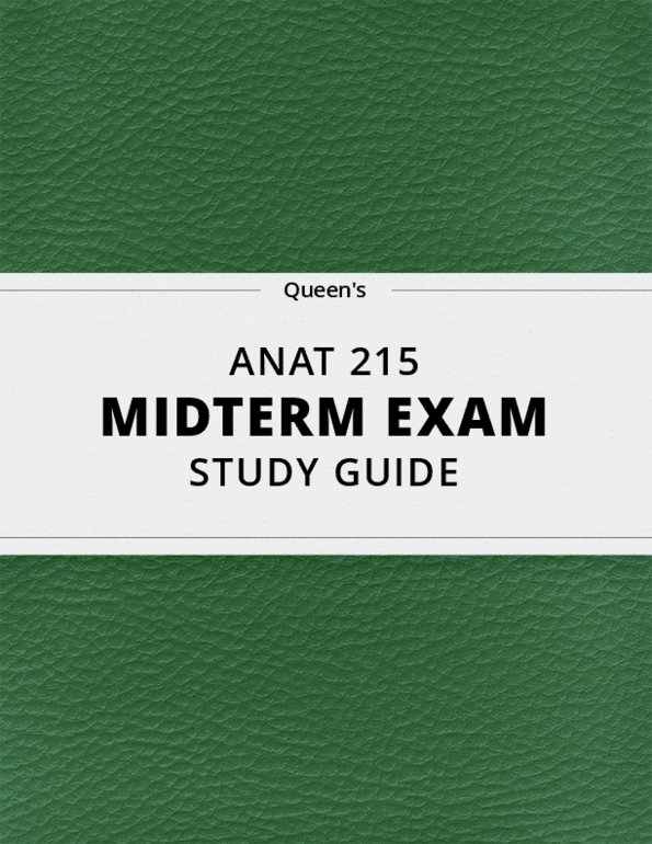 ANAT 215- Final Exam Guide - Comprehensive Notes for the exam ( 33 pages  long!)