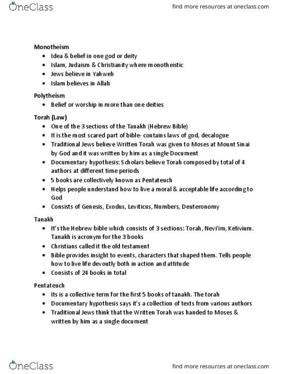 HUMA 1860 Lecture Notes - Fall 2017, Lecture 8 - Septuagint