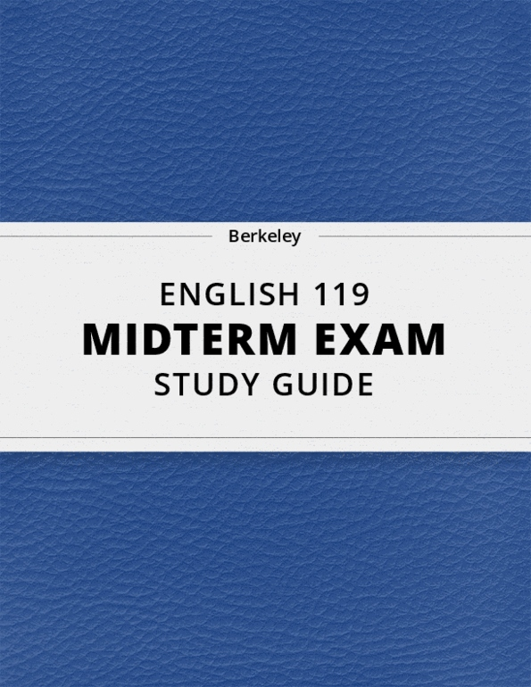 All Educational Materials for ENGLISH 119 at University of
