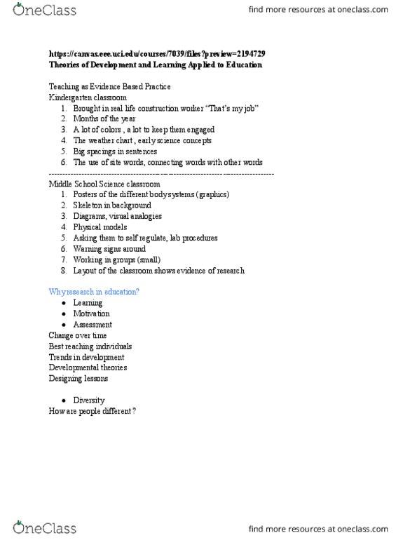 All Educational Materials for Janice Hansen - OneClass